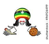 rasta death offers cookies and... | Shutterstock .eps vector #496926499