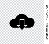 download cloud icon | Shutterstock .eps vector #496930735