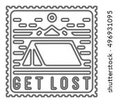 "flat design poster ""get lost"" ... | Shutterstock .eps vector #496931095"