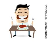 clipart of a happy man with a... | Shutterstock .eps vector #496932061
