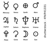 Zodiac And Astrology Symbols O...