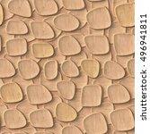3d wooden pattern  seamless | Shutterstock . vector #496941811