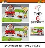 cartoon illustration of finding ... | Shutterstock .eps vector #496944151