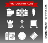 photography icons set vector... | Shutterstock .eps vector #496946425