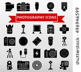 photography icons set vector... | Shutterstock .eps vector #496946599