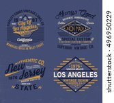 typo tee print designs vector... | Shutterstock .eps vector #496950229