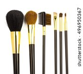 professional cosmetic brushes... | Shutterstock . vector #496950367