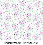 cute floral pattern of small...   Shutterstock .eps vector #496953751