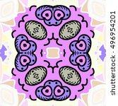 symmetrical melting colorful... | Shutterstock . vector #496954201