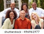 diverse group of friends....   Shutterstock . vector #496961977