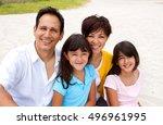 happy family  | Shutterstock . vector #496961995