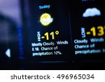 weather forecast interface on a ... | Shutterstock . vector #496965034