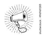 bullhorn or megaphone ... | Shutterstock .eps vector #496969285