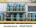 gas cylinders transport  and... | Shutterstock . vector #496970425