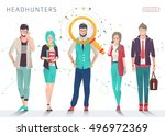 concept of searching... | Shutterstock .eps vector #496972369