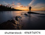a man is stand and looking to... | Shutterstock . vector #496976974