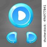 cartoon blue buttons. vector ui ...