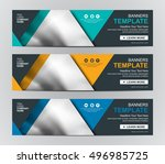 abstract banner design... | Shutterstock .eps vector #496985725