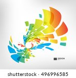 abstract colorful geometric... | Shutterstock .eps vector #496996585