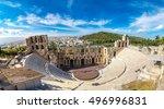 Ancient Theater In A Summer Da...