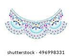 neck embroidery in vector. | Shutterstock .eps vector #496998331