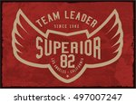 vintage varsity graphics and... | Shutterstock .eps vector #497007247