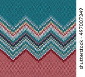 seamless knitting pattern with... | Shutterstock .eps vector #497007349