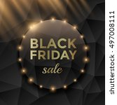 black friday sale poster design ... | Shutterstock .eps vector #497008111