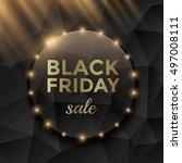 black friday sale poster design ... | Shutterstock .eps vector #497008111
