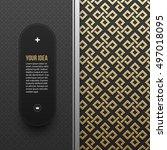 web banner template on golden... | Shutterstock .eps vector #497018095