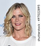 Small photo of LOS ANGELES - SEP 09: Alison Sweeney arrives to the Stand Up To Cancer 2016 on September 09, 2016 in Hollywood, CA