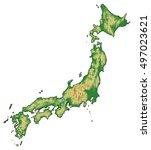 relief map   japan   3d...   Shutterstock . vector #497023621