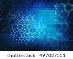 medical abstract background .... | Shutterstock . vector #497027551