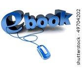 3d rendering of the word ebook... | Shutterstock . vector #49704202