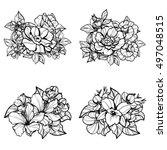 flower set | Shutterstock . vector #497048515