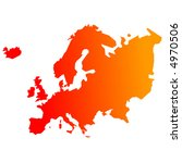 europe map of reheating... | Shutterstock .eps vector #4970506