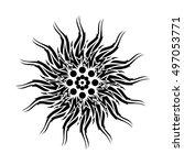 tribal tattoo sun symbolic...   Shutterstock .eps vector #497053771