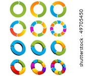 set of different arrow circles... | Shutterstock .eps vector #49705450