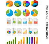 three dimensional pie charts... | Shutterstock .eps vector #49705453