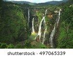 jog falls | Shutterstock . vector #497065339