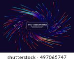lines composed of glowing... | Shutterstock .eps vector #497065747