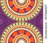 seamless pattern ethnic style.... | Shutterstock . vector #497066407