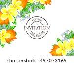 romantic invitation. wedding ... | Shutterstock .eps vector #497073169