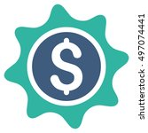 money sticker icon. glyph style ... | Shutterstock . vector #497074441