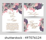 romantic invitation. wedding ... | Shutterstock . vector #497076124