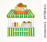 falafel street market. fast...   Shutterstock .eps vector #497081611