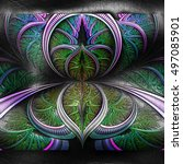plastic background 3d... | Shutterstock . vector #497085901