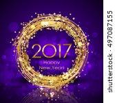 vector 2017 happy new year... | Shutterstock .eps vector #497087155