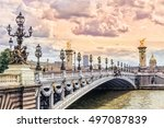 pont alexandre iii  alexandre... | Shutterstock . vector #497087839