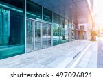 entrance of modern office... | Shutterstock . vector #497096821